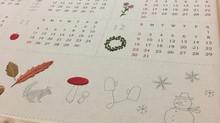 日本青木和子2018刺繡年曆