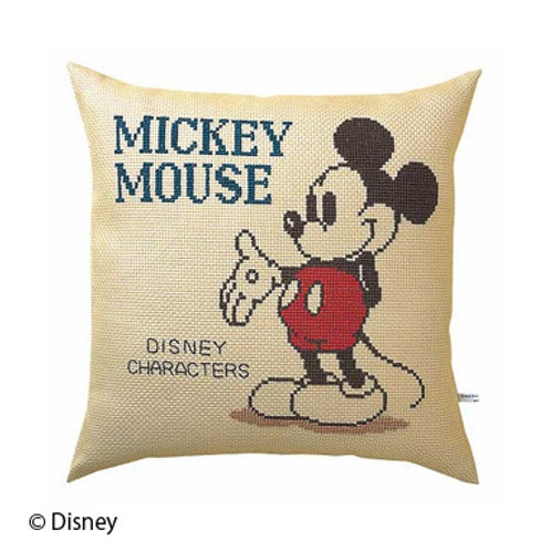 Mickey Mouse Cross Stitch Cushion Cover