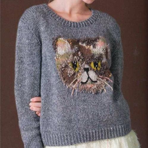 Cat Sweater Knitting Kit