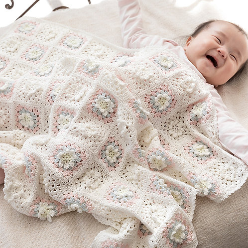 Baby Flower Blanket (Material set)