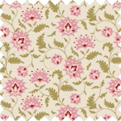 Tilda Ahlia Pink Fabric (by 0.5m)