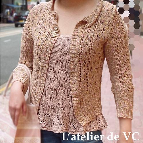 Knitting Silk & Cotton Cardigan (Material Kit)