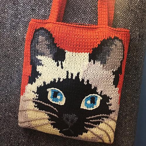 Knitting Cat Bag
