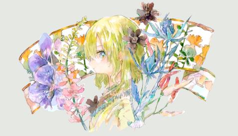 花のリボン