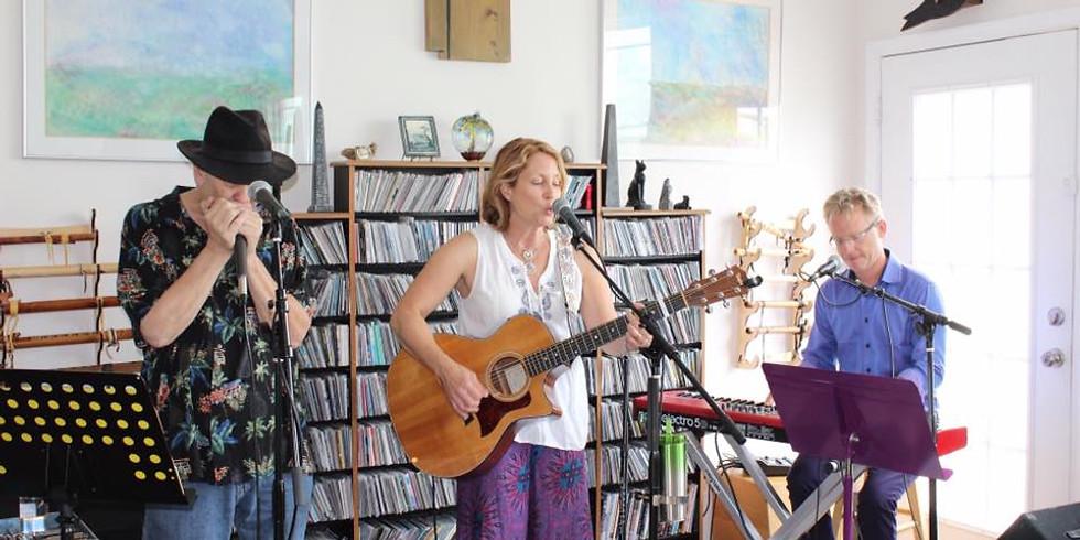 Meghan Cary, Peter Farrell & Bob Beach Sunroom Facebook Concert