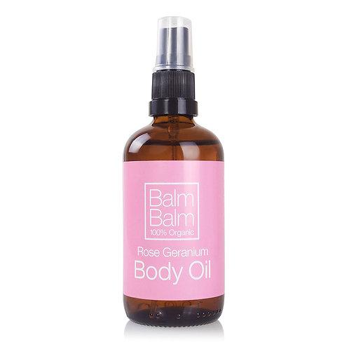 Balm Balm Body Oil Rose Geranium