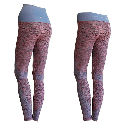 Yoga Pants KidneyKaren Pink/Blue Melange
