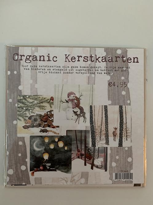 Organic Kerstkaarten Mix