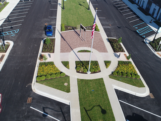 Arbuckle Commons 9-11 Memorial and Judy Carmony Fountain in Brownsburg, IN