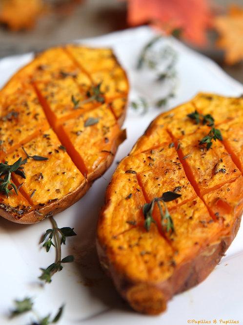 Patates douces rôties