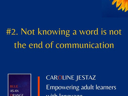 #2. Not knowing a word is not the end of communication