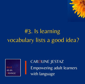 #3. Is learning vocabulary lists a good idea?