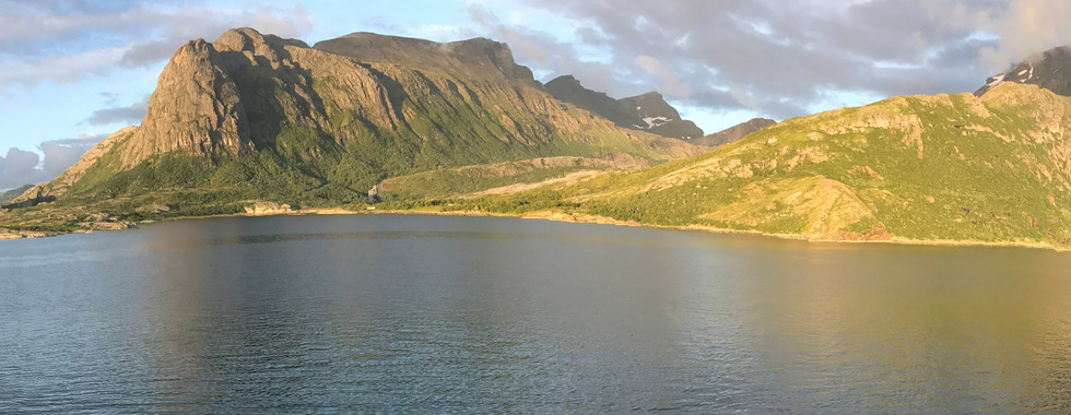 Ferry crossing the Arctic Circle