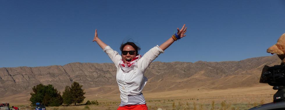 Jumping in Turkmenistan