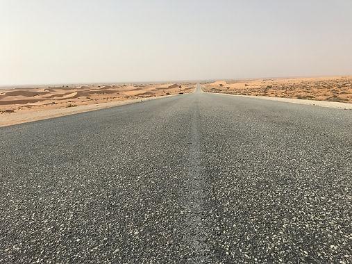 The road through Western Sahara