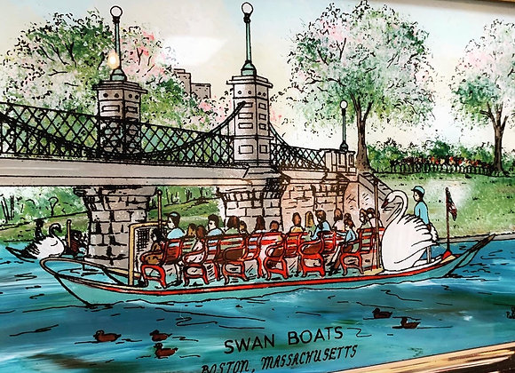Boston  Garden / Swan Boat Mirror