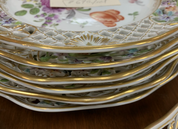 Set of Dresden plates (antique)