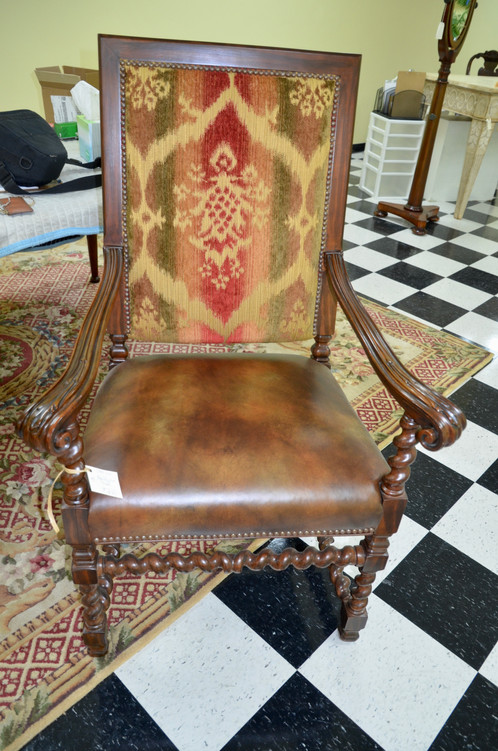 High Back Spool Chair, Tapestry.
