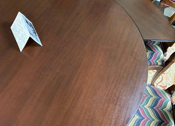 Round perimeter Dining table -  Seats 12 .mahogany