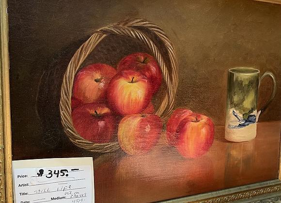 Oil on Canvas, Apples!