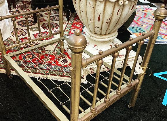 Antique brass crib