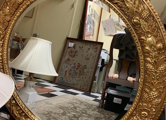 """Round mirror 40""""d. Bevelled."""