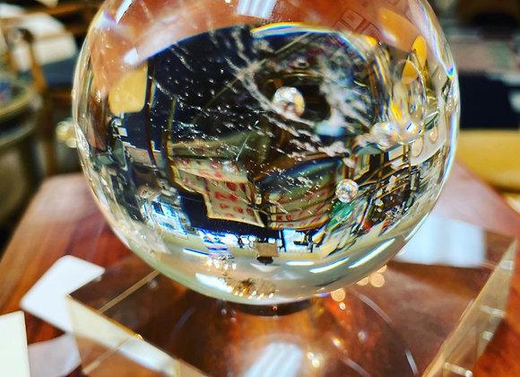 Steuben galaxy crystal ball