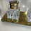 Thumbnail: Glass and Brass inkwell