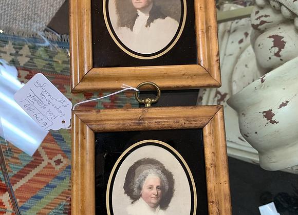 Portraits. pair.