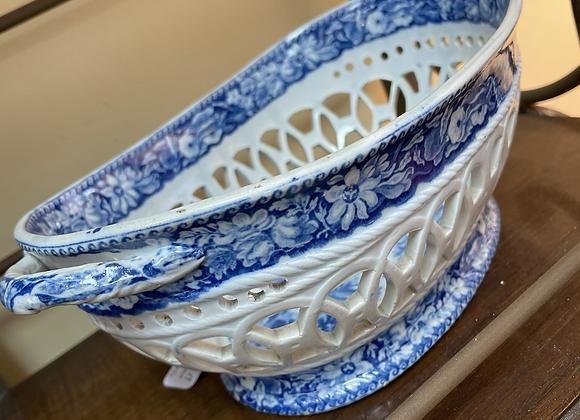 Blue and white porcelain basket Antique