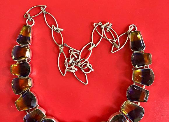 Necklace. Ametrine, sterling.