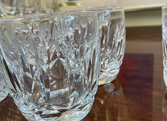 Eight Waterford 9 ounce glasses