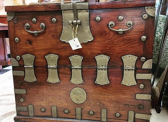 Antique Korean wedding trunk