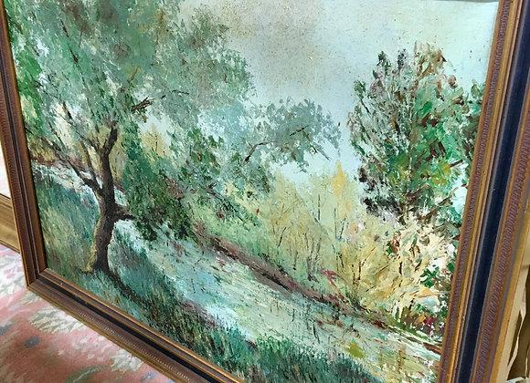 Painting, original vintage, signed. 38 x 27