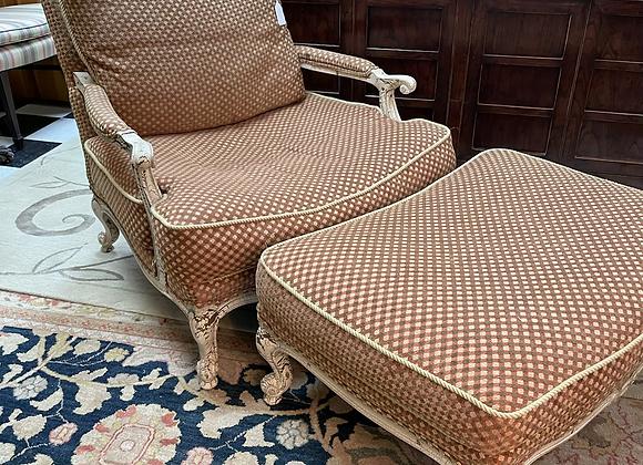 Lillian August chair & ottoman