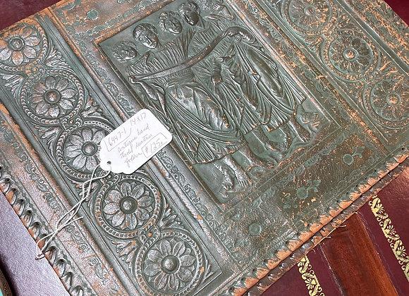 Antique leather folder