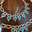 Thumbnail: Sterling 1950's necklace, bracelet. Turquoise.