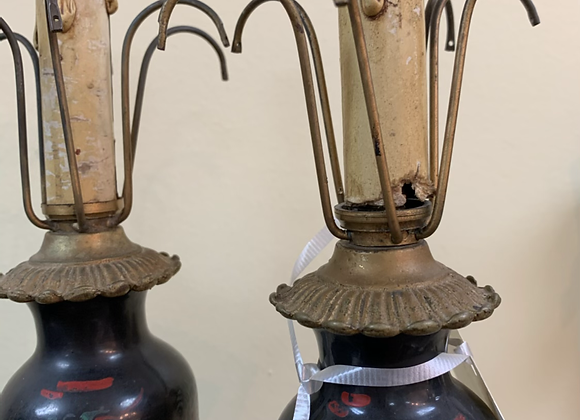 Small black lamps