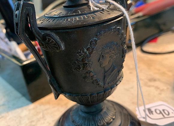 """5"""" tall miniature bronze urn."""