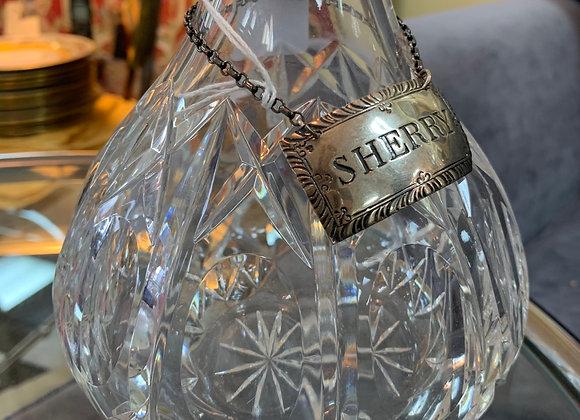 """Sherry"" sterling label by Stieff"