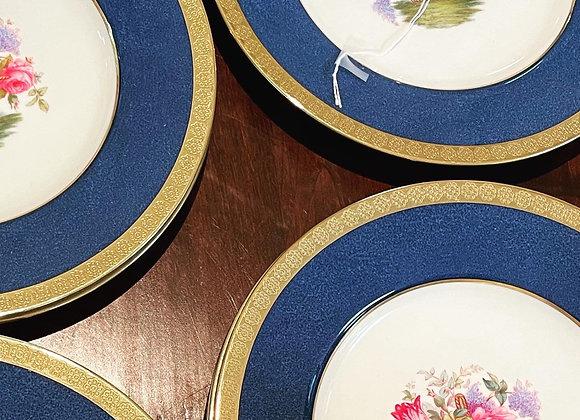Antique dinner plates (9)