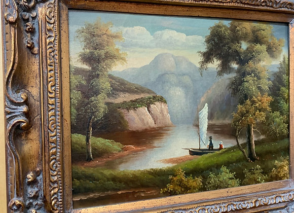 """""""The Riverside"""" oil"""