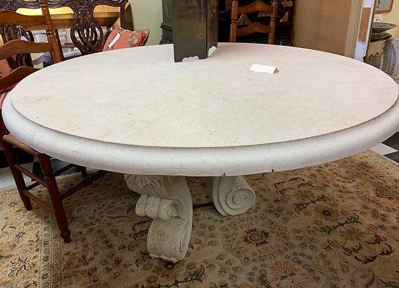 "59 "" Round stone table"