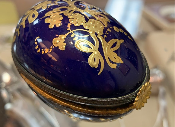 Blue and gold Limoges box