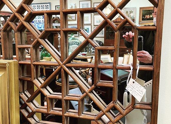Antique Chinese window mirror