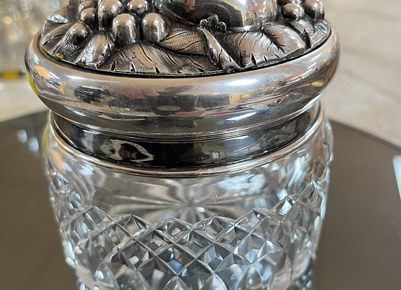 Jar with silver lid