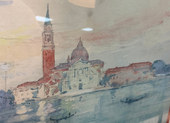 Antique Italian watercolor
