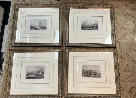 4 English engravings