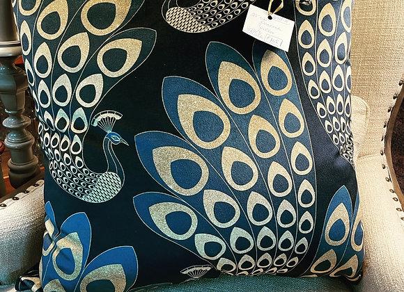 Velvet Peacock pillow