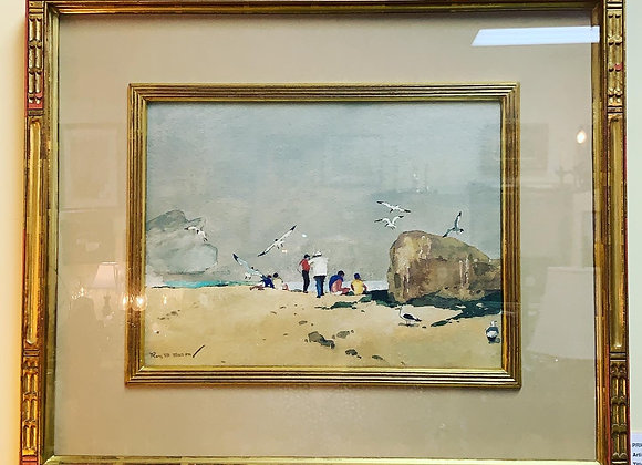 Original signed watercolor by Roy M. Mason